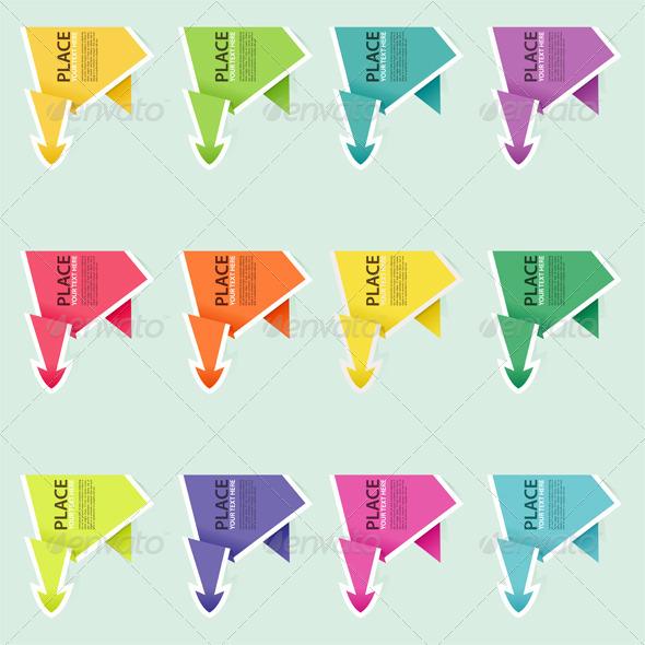 Graphic River Collect Paper Origami Arrow Vectors -  Conceptual  Business  Concepts 742159