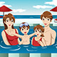 Family in a Swimming Pool - GraphicRiver Item for Sale