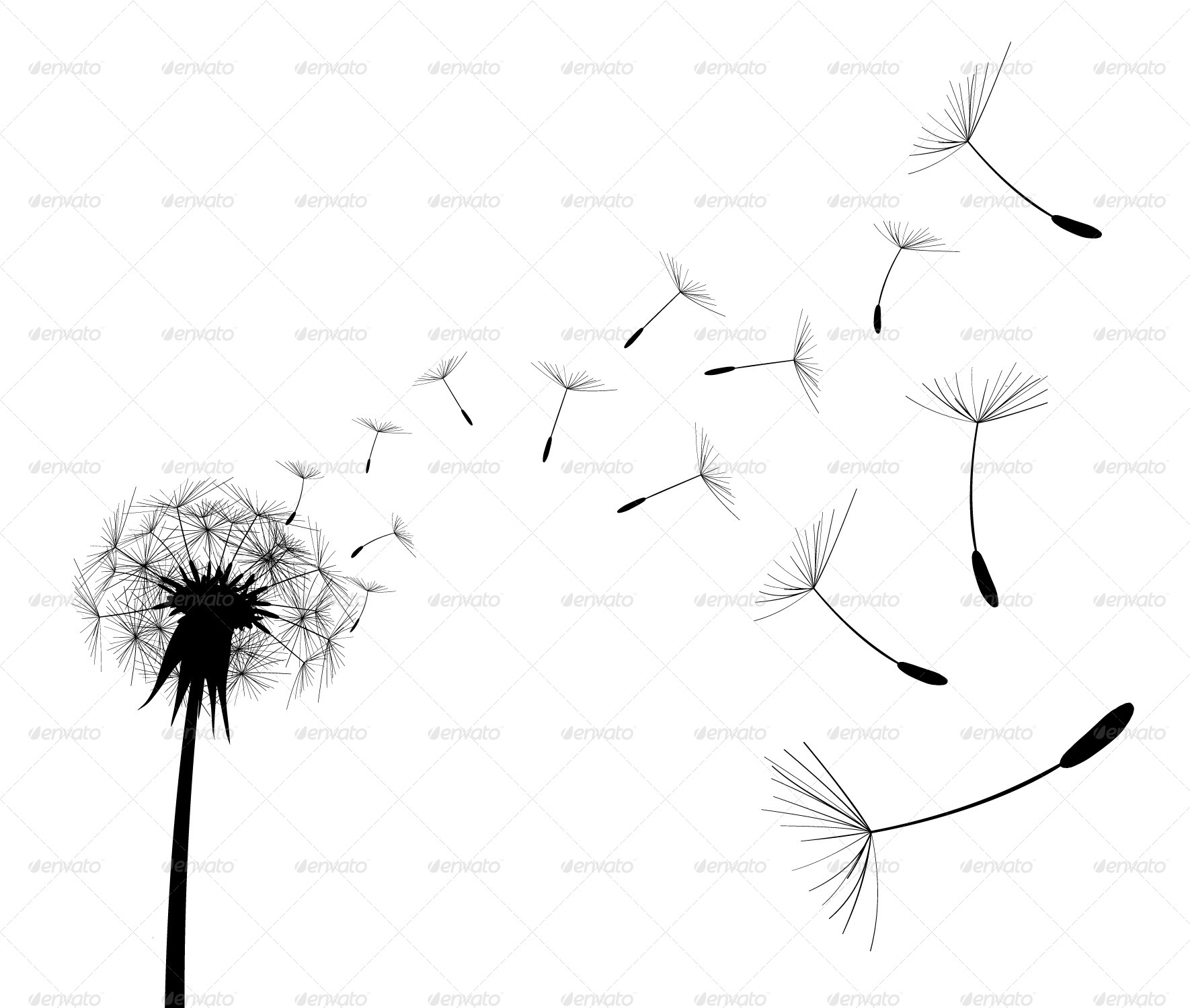 dandelions blowing the wind coloring pages | Blowing Dandelion Coloring Pages Coloring Coloring Pages