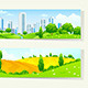 Two Horizontal Banners with Nature and City - GraphicRiver Item for Sale