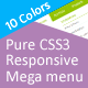 Pure CSS3 Responsive Mega menu - CodeCanyon Item for Sale