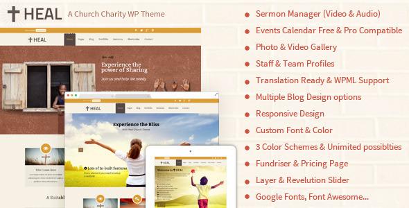 ThemeForest Heal Church WordPress Theme 7092915