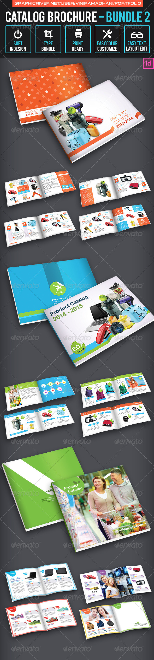 GraphicRiver Catalog Brochure Bundle 2 7094955