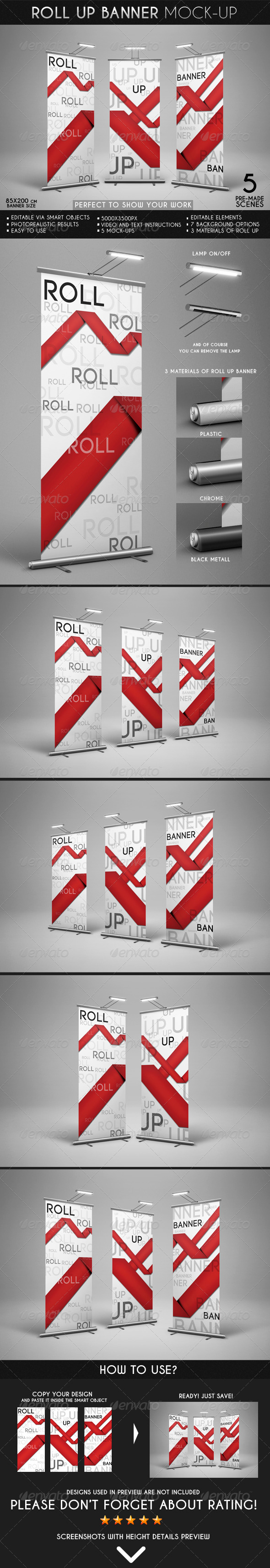 GraphicRiver Roll Up Banner Mock-Up 7102120
