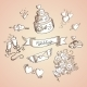 Sketch of Wedding Design Elements - GraphicRiver Item for Sale