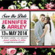 Shabby Chic Wedding Invitation Post Card Vol.3 - GraphicRiver Item for Sale
