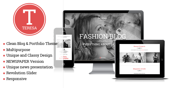 ThemeForest Teresa A One And Multi Page Fashion Theme 7107949