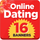 Banner set for Dating Websites - GraphicRiver Item for Sale