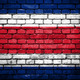 Brick wall with painted flag of Costa Rica - PhotoDune Item for Sale