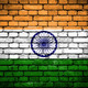 Brick wall with painted flag of India - PhotoDune Item for Sale