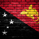 Brick wall with painted flag of Papua New Guinea - PhotoDune Item for Sale