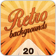 Retro Backgrounds - Vintage Sunburst Collection 1 - GraphicRiver Item for Sale