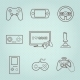 Video Games Controller Icons Set - GraphicRiver Item for Sale