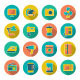 Set Flat Icons of Home Technics and Appliances - GraphicRiver Item for Sale