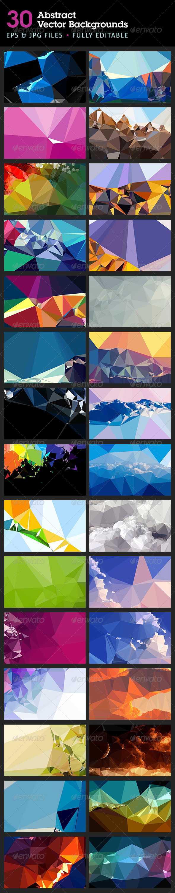 Abstract Backgrounds in Vector Format (Backgrounds) - GFX Hell