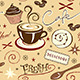 Repeat Pattern Hot Fresh Coffee Shop and Sweets - GraphicRiver Item for Sale
