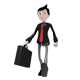 Business Man Mascot with Briefcase - GraphicRiver Item for Sale