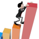 Business Man Mascot Climbing a Graph - GraphicRiver Item for Sale