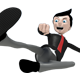 Business Man Mascot Fly Kick - GraphicRiver Item for Sale