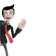 Business Man Mascot Behind Wall - GraphicRiver Item for Sale