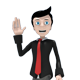 Business Man Mascot Waving - GraphicRiver Item for Sale