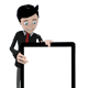 Business Man Mascot with Tablet 1 - GraphicRiver Item for Sale