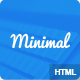 Minimal Responsive HTML5 Blog template - ThemeForest Item for Sale