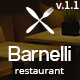 Barnelli - Restaurant HTML5 Responsive Template - ThemeForest Item for Sale