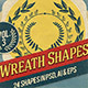 Wreath Shapes Vol.3 - GraphicRiver Item for Sale