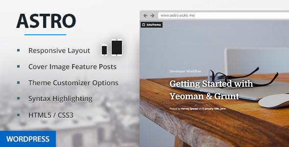 Astro - Responsive WordPress Blog Theme