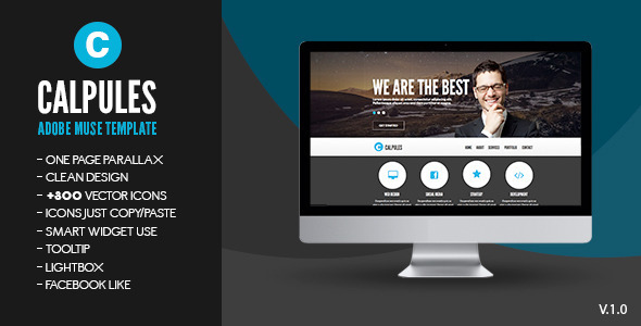 Calpules adobe muse template by zacomic themeforest for Adobe muse mobile templates