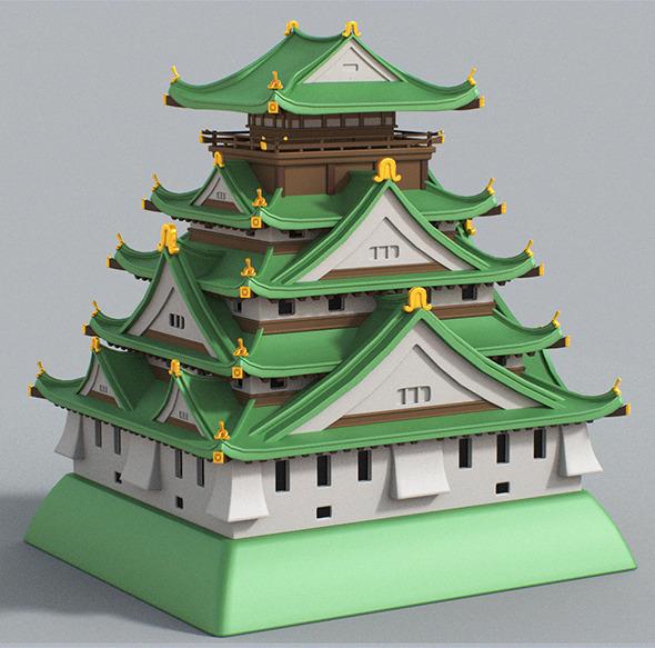 3DOcean Cartoon Osaka Castle 7132662