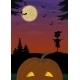 Halloween Landscape with Pumpkin - GraphicRiver Item for Sale