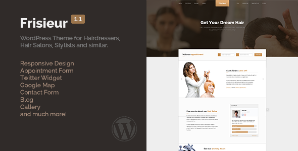 Frisieur WordPress Theme for Hairdressers