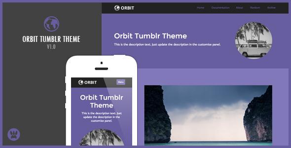 Orbit – A Responsive Tumblr Theme (Tumblr) images