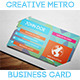 Creative Metro Business Card - GraphicRiver Item for Sale