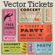 Vector Crunge Tickets and Coupons - GraphicRiver Item for Sale