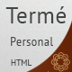 Termé - Responsive Personal Portfolio, Resume - ThemeForest Item for Sale