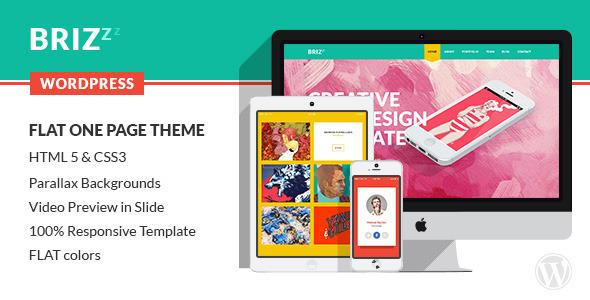 ThemeForest BRIZZZ Flat One Page Wordpress Theme 7150717