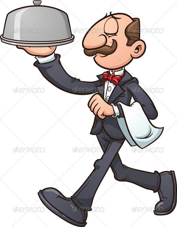 Waiter Cartoons and Comics  CartoonStock  Cartoon Humor