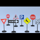 Traffic Signs; 8 models, UV Unwrapped (with UV Lay - 3DOcean Item for Sale
