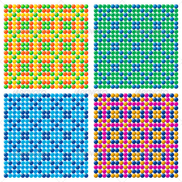Graphic River 4 Candy Backgrounds Vectors -  Decorative  Backgrounds 750714
