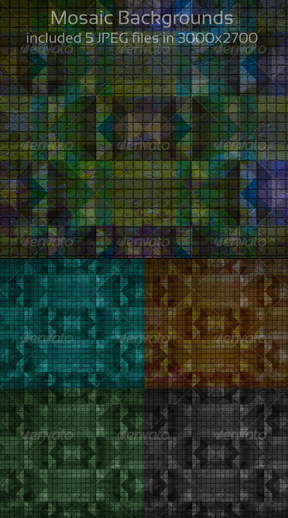 Graphic River Mosaic Backgrounds Graphics -  Backgrounds  Abstract 750723