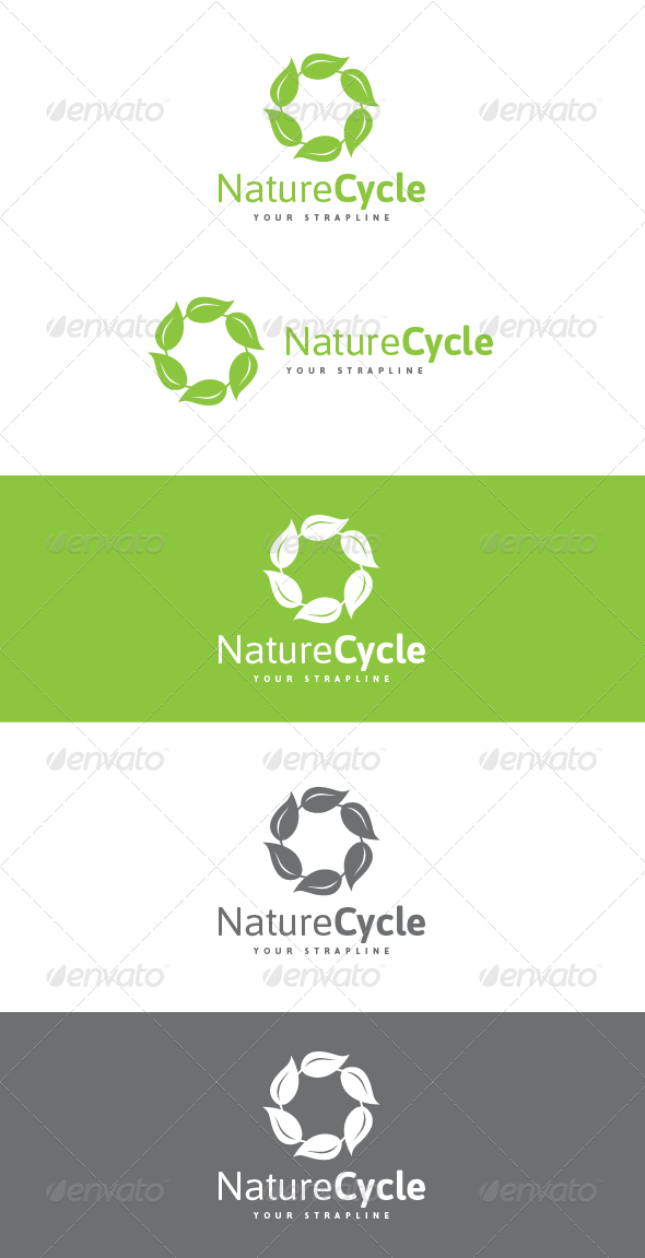 Nature Cycle Logo - Nature Logo Templates