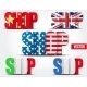 Shop Symbol with Flags of Country - GraphicRiver Item for Sale