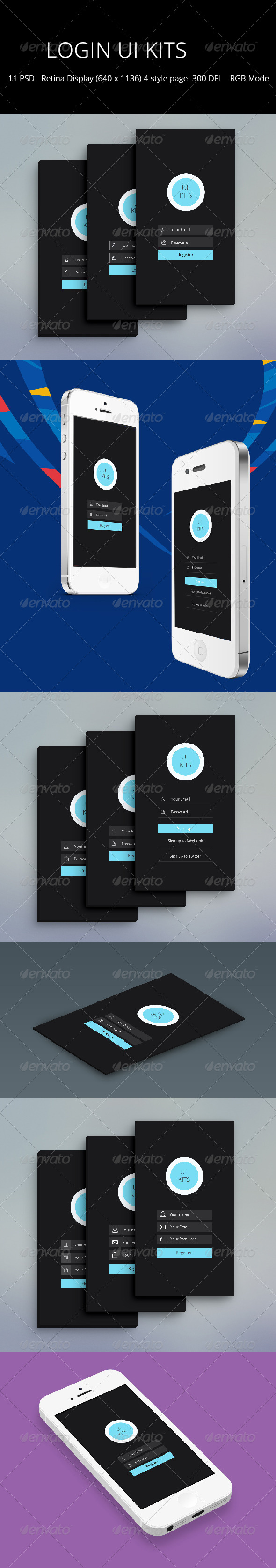 GraphicRiver Login UI KITS 7157665