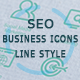 Seo and Business Icons Line Style - GraphicRiver Item for Sale