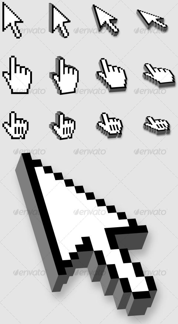 GraphicRiver 3D Cursors 30513