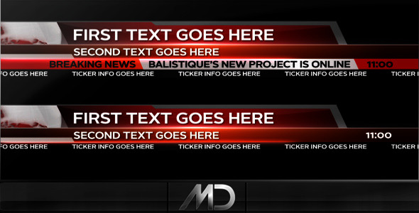After Effects Project - VideoHive Broadcast News Lower Thirds 504231
