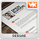 BD1 - 1 Piece Flat and Clean Resume - GraphicRiver Item for Sale
